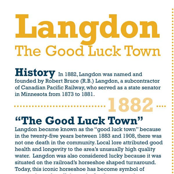 About Langdon Infographic