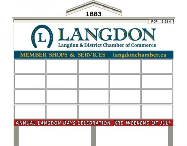 Langdon Annual Sign Rentals